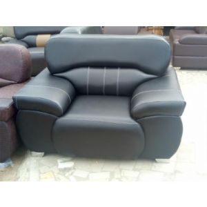 SET OF BLACK LEATHER CHAIR