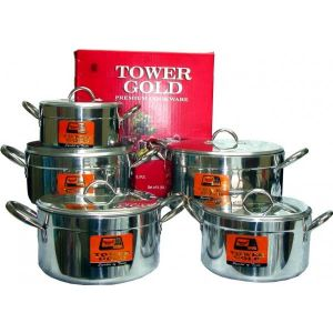 Tower Gold Heavy Cookware Set of 5
