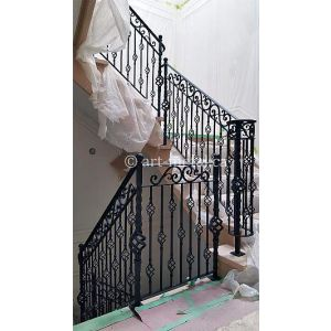 Wrought iron Stainless rail