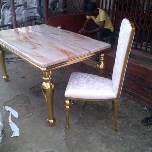 Marble Dining Table Gold