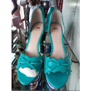 Teal Peep Toe